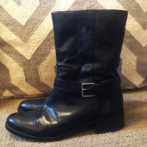 Cole Haan Waterproof Moto Leather Booties